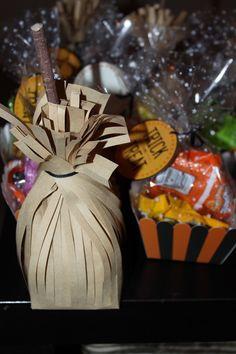 Broom treat bag for halloween