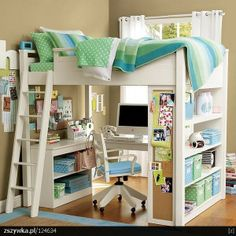 I love this idea for the girls' room!