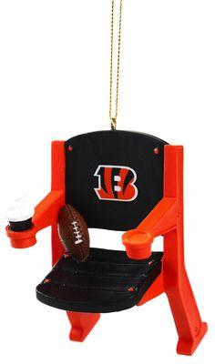 Cincinnati Bengals Stadium Chair Christmas Ornament