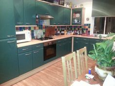 My kitchen. It's not a bespoke, hand-made, designer, expensive kitchen but I love it and it is the heart of my victorian terraced home in Derbyshire. Derbyshire, Bespoke, Terrace, Kitchen Ideas, Victorian, Heart, Design, Home Decor, Taylormade