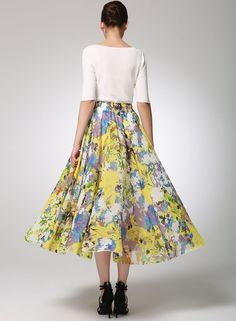 Chifon skirt maxi women skirt 1280 by xiaolizi on Etsy