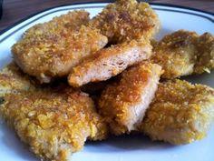 """Crispy Chicken"" Soja-Medaillons in Cornflakes-Panade   Claudi's vegan world"