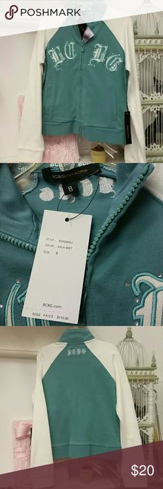BCBG MAXAZRIA zip up sz 8 NWT New zip up BCBGMaxAzria Shirts & Tops Sweatshirts & Hoodies