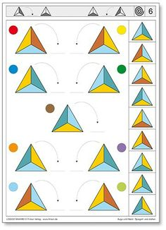 Toddler Learning, Preschool Learning, Teaching Math, Learning Activities, Activities For Kids, Visual Perception Activities, Educational Games For Kids, Montessori Activities, Colors