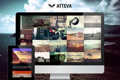 New Update - Version Atteva is a flexible, bold, creative and easy to use WordPress Theme. The theme is web responsive and will work on all devices Blog Layout, Portfolio Layout, Web Layout, Creative Portfolio, Social Media Icons, Social Media Site, Theme Words, Google Web Font, Retina Display
