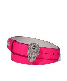 Philipp Plein - Skullynicious Pink Belt