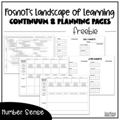 Included in this file are multiple different assessment formats for you to use in your class using Fosnot's continuum of learning for number sense.I hope the planning templates are useful for you to help you with your math planning!Continuum: This will help you focus on teaching strategies (direct m... Number Sense, Teaching Strategies, Classroom Management, Assessment, Numbers, Templates, How To Plan, Math, Learning
