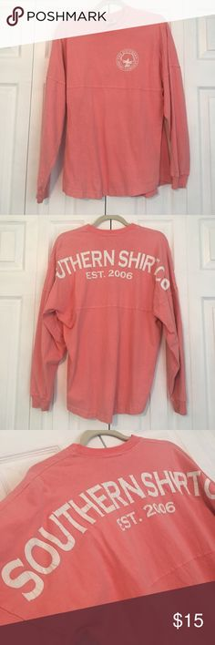 Southern Shirt Company Spirit Jersey Very comfy and great to lounge around in or wear as a swim coverup! The letters have begun to crack but still looks super cute and loved. Southern Tide Tops Tees - Long Sleeve