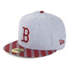Boston New Era 59fifty Designer Caps, Caps Game, Flat Bill Hats, New Era Hats, New Era 59fifty, Fitted Caps, Bad Hair Day, Headgear, Snapback Hats