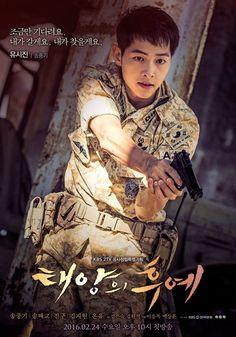 Poster Descendants of the Sun Song Joong-ki Song Hye Kyo, Song Joong Ki, Park Hae Jin, Park Seo Joon, Asian Actors, Korean Actors, Korean Dramas, Kdrama, Decendants Of The Sun