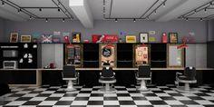 Um projeto comercial com cores sóbrias como o cinza, preto e o amadeirado, garantindo o clima masculino para a barbearia. Atualmente, busca-se resgatar o cenário do vínculo entre o barbeiro e o cli…