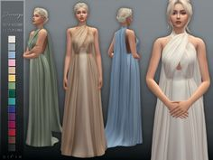 The Sims Resource: Daenerys Dress II by Sifix Los Sims 4 Mods, Sims 4 Cas Mods, Sims 4 Mods Clothes, Sims 4 Clothing, Maxis, Game Of Thrones Dress, Sims Medieval, Sims 4 Anime, Sims 4 Collections