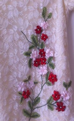 free ribbon embroidery pattern for dresses