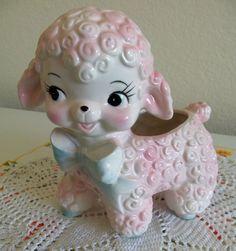 1970s Sheep Lamb Planter Rubens Napco Japan by CleosTreasures, $20.00