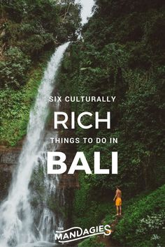 Top 6 Culturally RICH things to do in Bali, Indonesia.