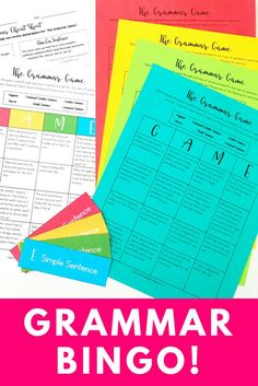 Such a fun way to review difficult grammar concepts with your students - Grammar Bingo! Reviews independent clauses, dependent clauses, fragments, run-on sentences, simple sentences, compound sentences, complex sentences, and compound-complex sentences. Makes teaching grammar a breeze and FUN in your middle school classroom! :)