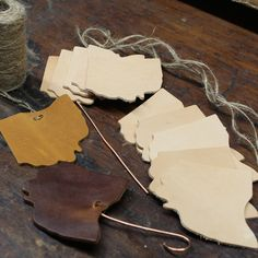 Your place to buy and sell all things handmade Leather Diy Crafts, Leather Projects, Leather Kits, Tan Leather, Leather Coasters, Leather Scraps, Diffuser Jewelry, Client Gifts, Wine Glass Charms