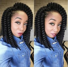 Beautiful Durban Crochet Twists IG:@diamondeyezzz ‪#‎naturalhairmag‬