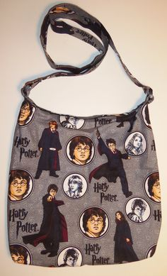 Harry Potter Character Inspired Handmade Hobo Style Shoulder Bag -Lined in White with pockets by CosplayMommas on Etsy New today, One available @cosplaymommas #cosplaymommas