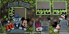 DISNEY - HAUNTED MANSION - Premade Scrapbook Pages w/ Paper Piecings - SSFFDeb
