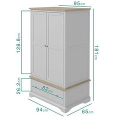 Darley Two Tone Wardrobe in Solid Oak and Light Grey Large Furniture, New Furniture, Online Furniture, Solid Pine, Solid Oak, Fancy Shop, How To Store Shoes, Dovetail Drawers, Brushed Stainless Steel