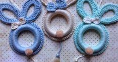 Crochet Bebe, Easter Crochet, Crochet Home Decor, Crochet Earrings, Crafts, Manualidades, Cute Bunny, Crocheted Slippers, Easter Crochet Patterns