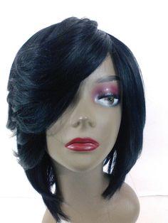 Yaki human Hair Handmade Wig layered bob ajustable cap sewing wig #Bob