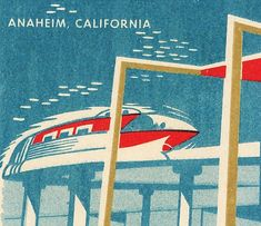 Monorail matchbox cover for Disneyland Hotel