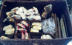 Organize & Recycle at the same time! I used a divider from a flat of canning jars to organize a snack basket. Works great!