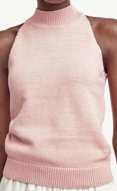 Ann Taylor Abbreviated Sleeveless Body Top with Rib Neck in Frosted Pink as seen on Victoria Justice