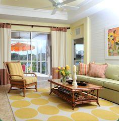 Green & Yellow Living Room!!