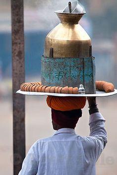 Tea seller, India.
