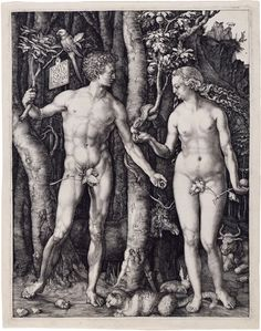 Albrecht Dürer -  Adam and Eve 1504  engraving, 265 × 209 mm Current location: The Morgan Library & Museum