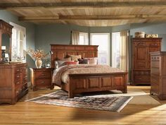 Rustic Elegance Bedroom Collection | Panel Bed. Wow I like this!