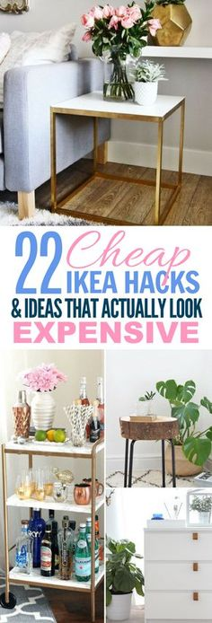 These 22 Ikea Hacks Are PERFECT If You Need An Inexpensive Way To Decorate Your Home! Who knew such cheap items could look expensive with just a little DIY? #ikea #ikeahacks #diy #homedecor #diyhomedecor
