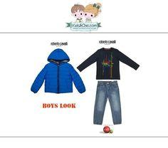 #Trendy #look for #boys from #RobertoCavalli Junior and #Boboli. Discover at: www.kidsandchic.com/boy   #boysclothing #boysfashion #kidsfashion #trendychildren #kidsclothing #toddlerclothes #shoponline #shoppingbarcelona #jacket #boysjacket  #tshirts #jeans #boysjeans #denim  #winterjacket #backtoschool #vueltaalcole