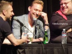 Tom Hiddleston, Guillermo del Toro, and Chris Hardwick at the Nerdist Podcast Live! at the Balboa Theater in San Diego, CA. July 11, 2015 - during SDCC[more?]