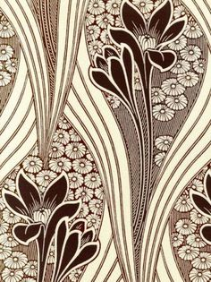 The Art Nouveau Blog Art Nouveau Wallpaper Patterns