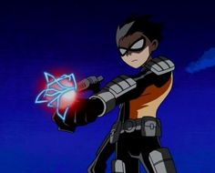 Robin in Slade's apprentice outfit. Teen Titans Robin, Teen Titans Go, Robin And Raven, Robin Dc, Digimon, Dc Comics, First Robin, Memes Arte, Original Teen Titans