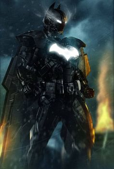 Batman is one of the most famous comic book characters of all time. To celebrate the comic book hero, several artists collaborated and reimagined what Batman would look like in unusual plots and time periods. Iron Batman, Le Joker Batman, Iron Man Superhero, Batman Arkham, Batman Art, Batman 2017, Batman Superhero, Batman Stuff, Batman Robin