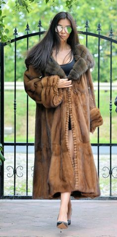 Russian Sable Royal Saga Mink Fur Long Swinger Coat Class Chinchilla Fox Jacket | eBay