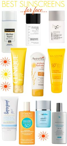 The best sunscreens for your face. (Best Skin 30s)