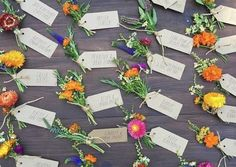 wildflower wedding seat card