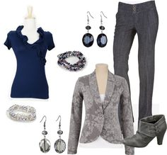 """""""Floral Blazer"""" by sarah-noonan-dlugosh on Polyvore Floral Blazer, Peasant Blouse, Houndstooth, Chambray, Dressing, Navy, Type, Elegant, My Style"""