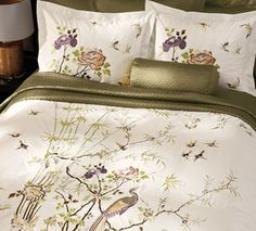 Embroidered Crane Duvet Cover  in Holiday 2012 from Cuddledown