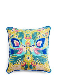 Buy the Folk Birds Cushion from Marks and Spencer's range. Soft Furnishings, Folk, Cushions, Birds, Throw Pillows, Embroidery, Design, Home Decor, Interiors