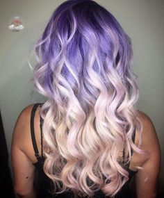 """hairstylesbeauty: """"💜💕 Purple to Shell Pink Mermaid Melt by Gorgeous color and style Savannah! Cute Hair Colors, Hair Color Purple, Cool Hair Color, Pastel Hair, Pink Hair, Dyed Hair, Wavy Hair, Tape In Hair Extensions, Unicorn Hair"""