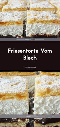 Friesentorte Vom Blech Ingredients: For the dough: 500 mlwater 100 g butter 1 pinch salt 200 gm flour 5 eggs For the cream: 750 ml of plant cream 750 gm lean quark 3 Pck. Cinnamon Cream Cheese Frosting, Cinnamon Cream Cheeses, Cupcake Recipes, Snack Recipes, Snacks, Food Cakes, Frozen Puff Pastry, Pumpkin Spice Cupcakes, Strawberries And Cream