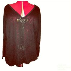 Black long sleeve sheer top Top is sheer with a leopard print... Fits 2/3x very light Tops Tees - Long Sleeve