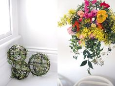 Blooming gorgeous hanging garden decoration. Photography and styling by Lisa Tilse for We Are Scout.